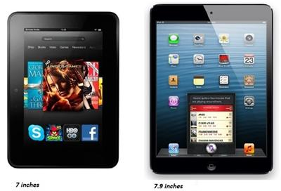 Apple iPad Mini and Amazon Kindle Fire HD A Comparison image 2