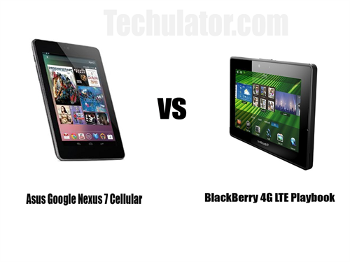 Asus Google Nexus 7 Cellular vs BlackBerry 4G LTE PlayBook: Comparative analysis