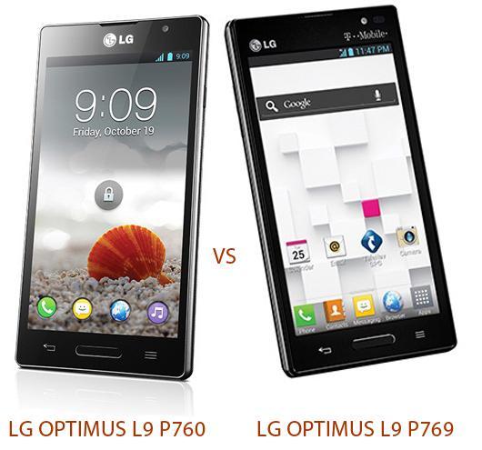 LG Optimus L9 P760 vs LG Optimus L9 P769