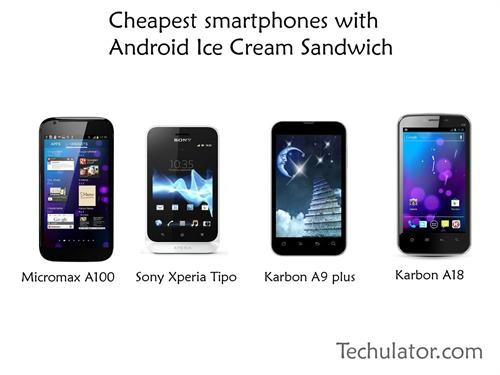 Cheapest smartphone with Android Ice Cream Sandwich