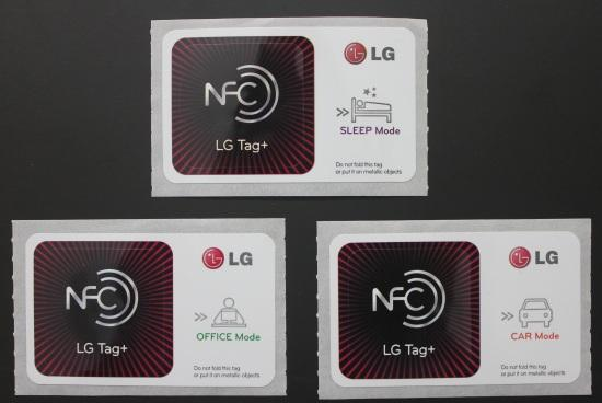 NFC support in LG Optimus Vu