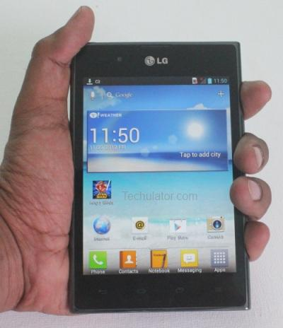 LG Optimus Vu fits in your Palm