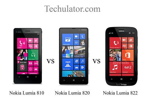 Nokia Lumia 810 vs Nokia Lumia 820 vs Nokia Lumia 822: an awesome comparison