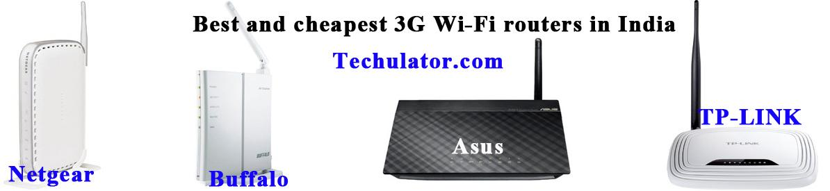 Best and cheapest 3G Wi-Fi routers in India