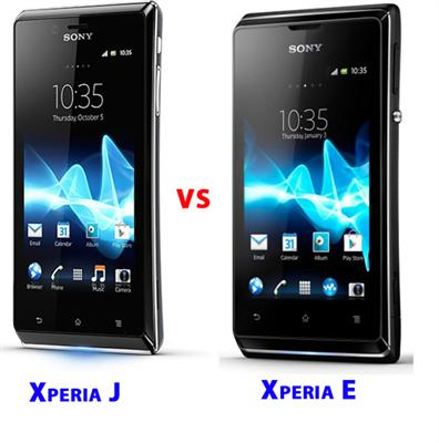 Sony Xperia E Vs Sony Xperia J - Comparision of Sony smartphones with