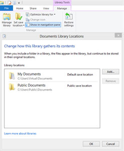 Add new folder in library in Windows 8