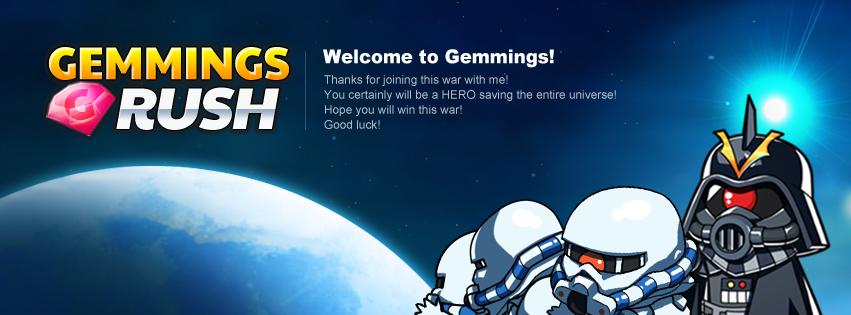 Gemmings Rush welcome