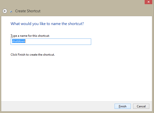 How to get Shutdown, Restart, sleep, lock, hibernate shortcuts in Windows 8?