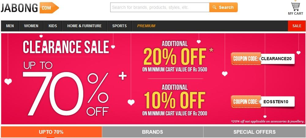 Use you Axis Bank card at Jabong today and this coupon code to get 25% off your favorite fashions like shirts, pants, dresses, shoes, sandals and more. Must spend at least Rs. in order for coupon code and discount to be applied during checkout at measured-voluntarily.ml