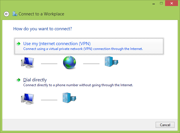 Connect to Workplace using VPN