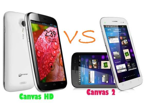 Micromax A116 Canvas HD vs Micromax A110 Canvas 2 - A featured war!