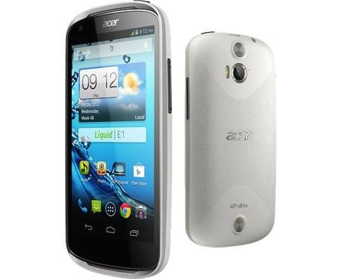Acer Liquid E1 smartphones Full specs, features and price in UK and France