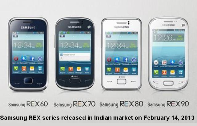 Samsung REX Series smartphones prices in India, features, specifications and comparison.