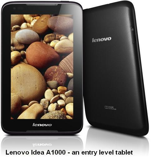 Lenovo IdeaTab A1000 tablet features, specifications, review, prices and availability in India