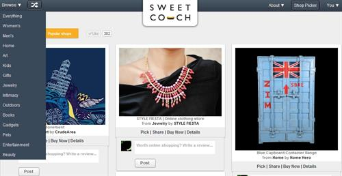 Sweetcouch.com Categories