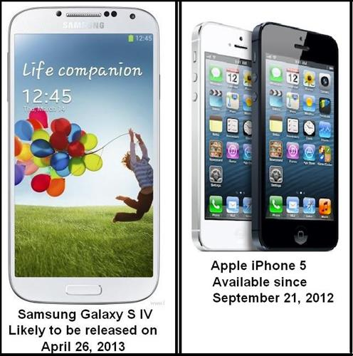 SAMSUNG GALAXY S 4 AND IPHONE 5