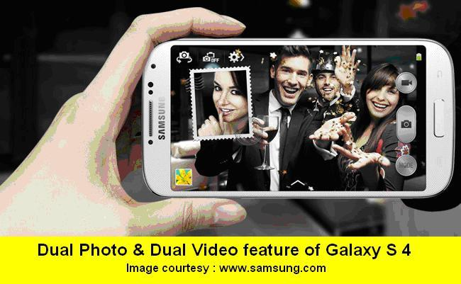 1-DUAL PHOTO FUNCTION OF SAMSUNG GALAXY S 4