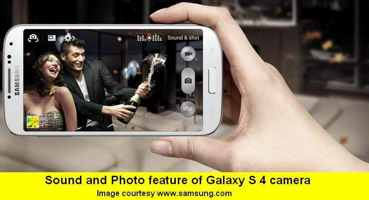 2-SOUND AND SHOT FUNCTION OF SAMSUNG GALAXY S 4