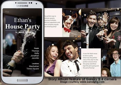5-STORY ALBUM FUNCTION OF SAMSUNG GALAXY S 4