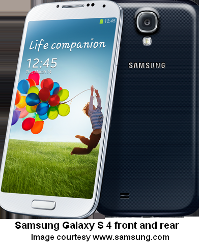SAMSUNG GALAXY S 4 FRONT AND REAR