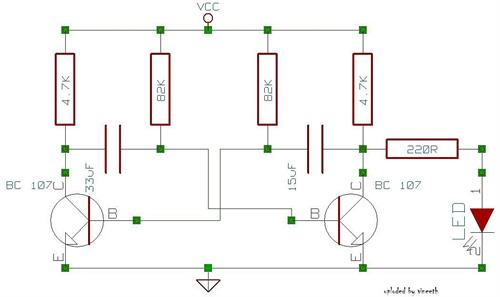 Designed practical circuit