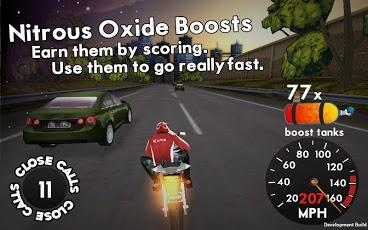 Highway Rider Android game - use nitrous