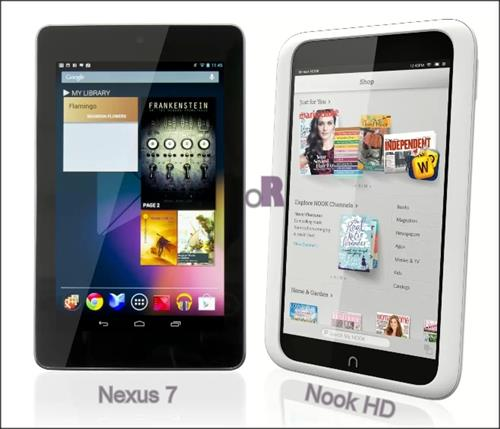 LG Asus Google Nexus 7 vs Barnes and Noble Nook HD- Which is better?