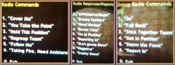 Radio commands