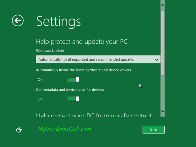 Protect and update Windows 8 PC