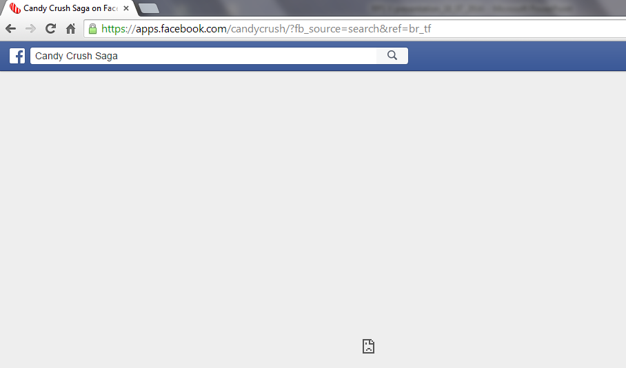 Candy crush saga game is not working in Facebook