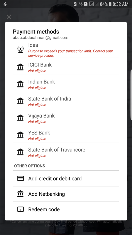 Netbanking ineligible in Google Play store