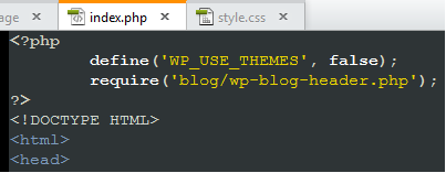 Initialize the Wordpress API