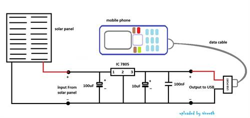 Circuit Diagram Of Phone Charger | Make Your Own Solar Mobile Charger