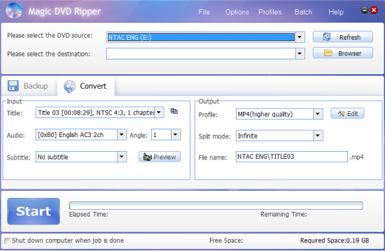 Magic DVD Ripper - Convert