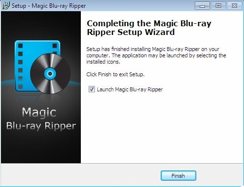 Magic Blu ray Ripper installation complete