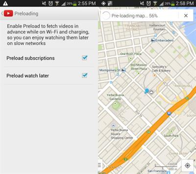 Preloading Google maps on Android