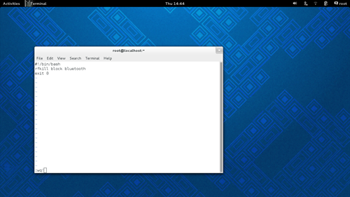 Script to disable bluetooth in Fedora 19
