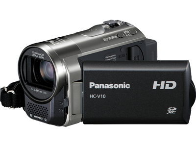 Panasonic HC-V10 HD 70x Optical zoom SD Camcorder (Black)