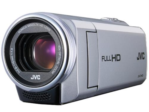 JVC GZ-E205 1.5MP Memory Camcorder with 40x Optical Zoom (Silver)