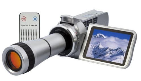 Compact Digital HD Video Camera Camcorder With 8x Optical Telescope Zoom Lens