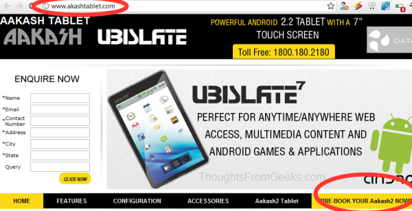 UbiSlate and Aakash Tablet