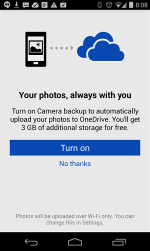 Free storage space in Microsoft Onedrive