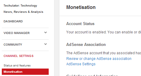 YouTube monetization features