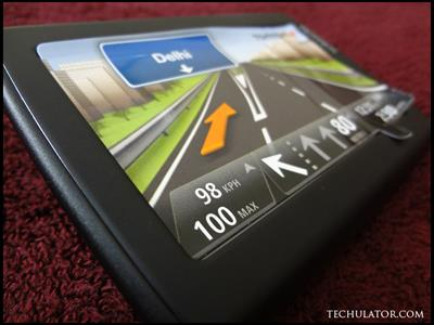 TomTom information on display