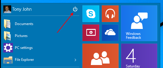 Keyboard shortcuts to shutdown, lock or restart Windows 10