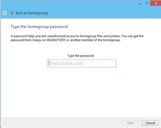 How to join Homegroup from Windows 10 and share files and printers