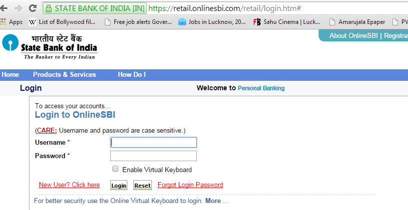 SBI internet banking activation