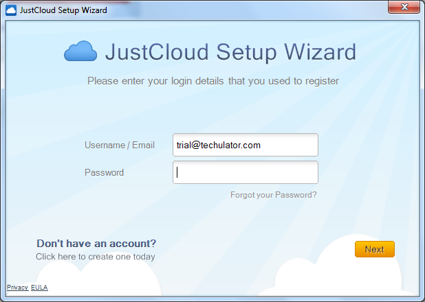 JustCloud - free cloud storage