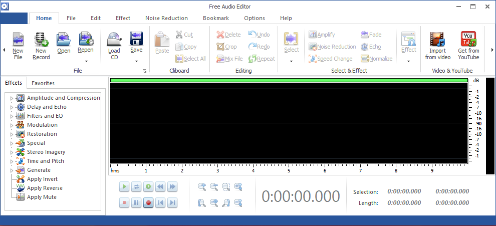 Screenshot of Free Audio Editor 2014