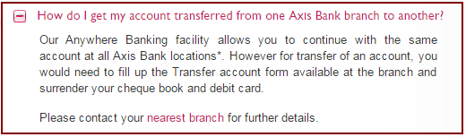 Axis Bank Account Transfer